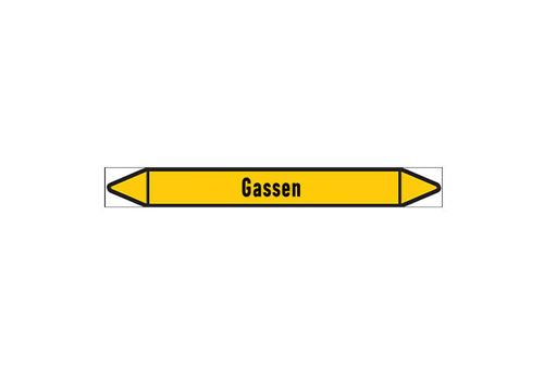 Pipe markers: Zwavelwaterstof | Dutch | Gas