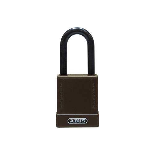 Aluminum safety padlock with brown cover 76/40 brown