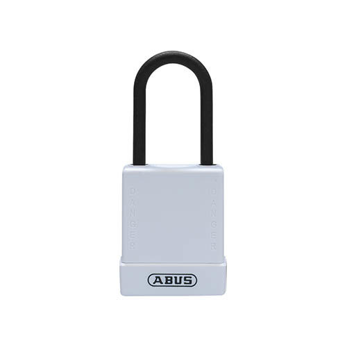 Aluminum safety padlock with white cover 76PS/40 white