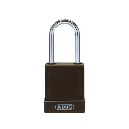 Aluminium safety padlock with brown cover 76BS/40 brown