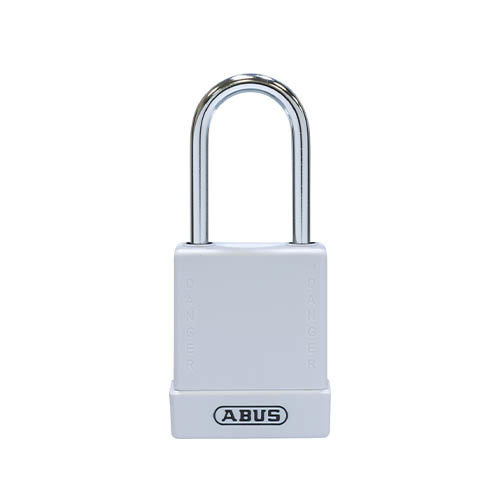 Aluminium safety padlock with white cover 76BS/40 white