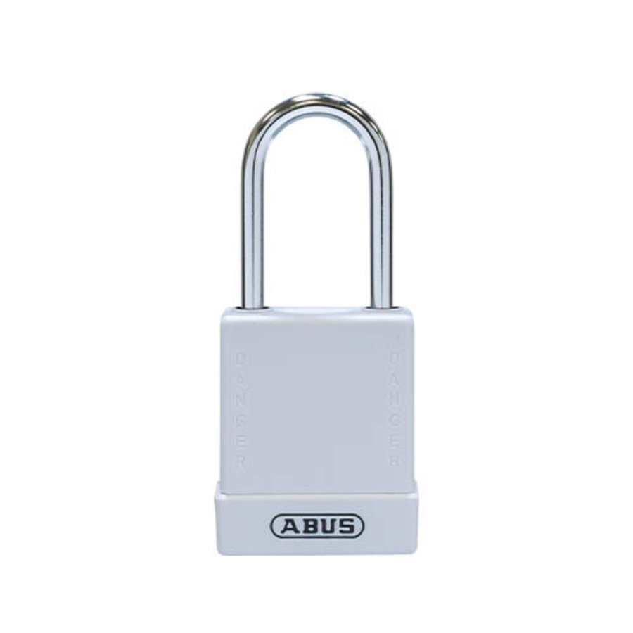Aluminium safety padlock with white cover 84787