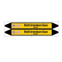 Pipe markers: Kohlendioxid | German | Non-flammable gas