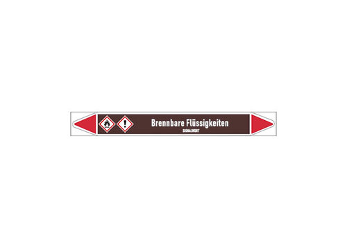 Pipe markers: Acetaldehyde | German | Flammable Liquids