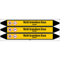 Pipe markers: Lachgas   German   Non-flammable gas