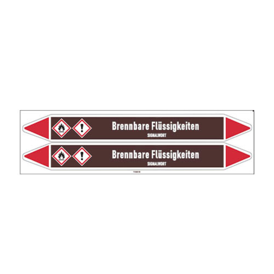 Pipe markers: Aceton   German   Flammable Liquids