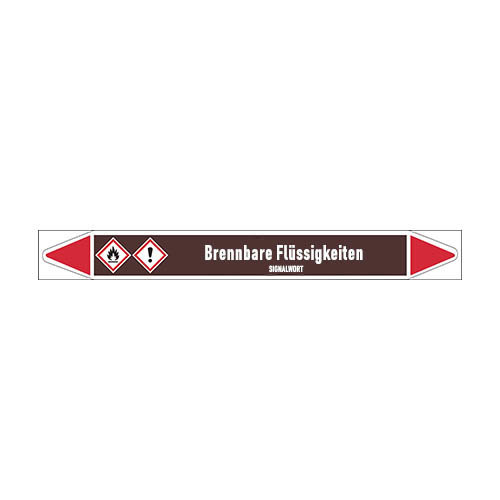 Pipe markers: Aceton | German | Flammable Liquids