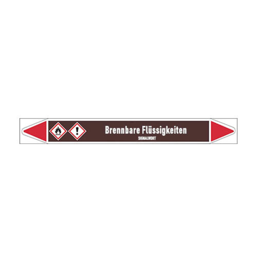 Pipe markers: Acetophenon | German | Flammable Liquids