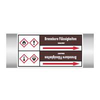 Pipe markers: Acrylaldehyd (stab.) | German | Flammable Liquids