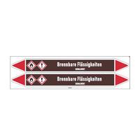 Pipe markers: Alkohol   German   Flammable Liquids