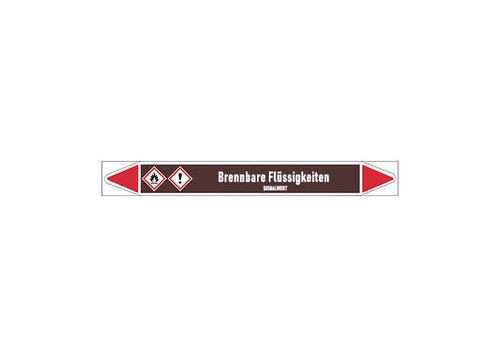 Pipe markers: Alkohol | German | Flammable Liquids