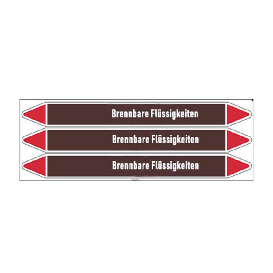 Pipe markers: Benzin | German | Flammable Liquids