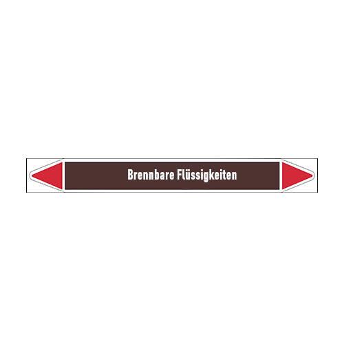 Pipe markers: Benzin bleifrei | German | Flammable Liquids