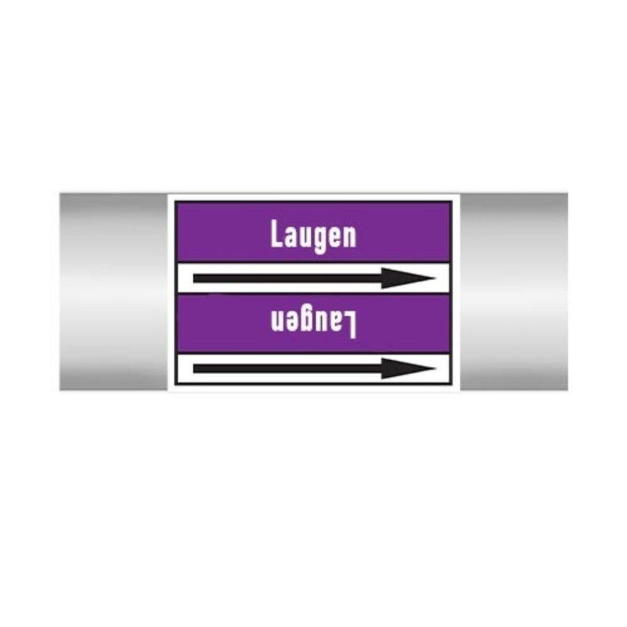 Pipe markers: Alkalisches Regenerat | German |  Alkalis