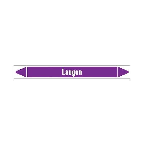 Pipe markers: Laug  Entsalzung  | German |  Alkalis