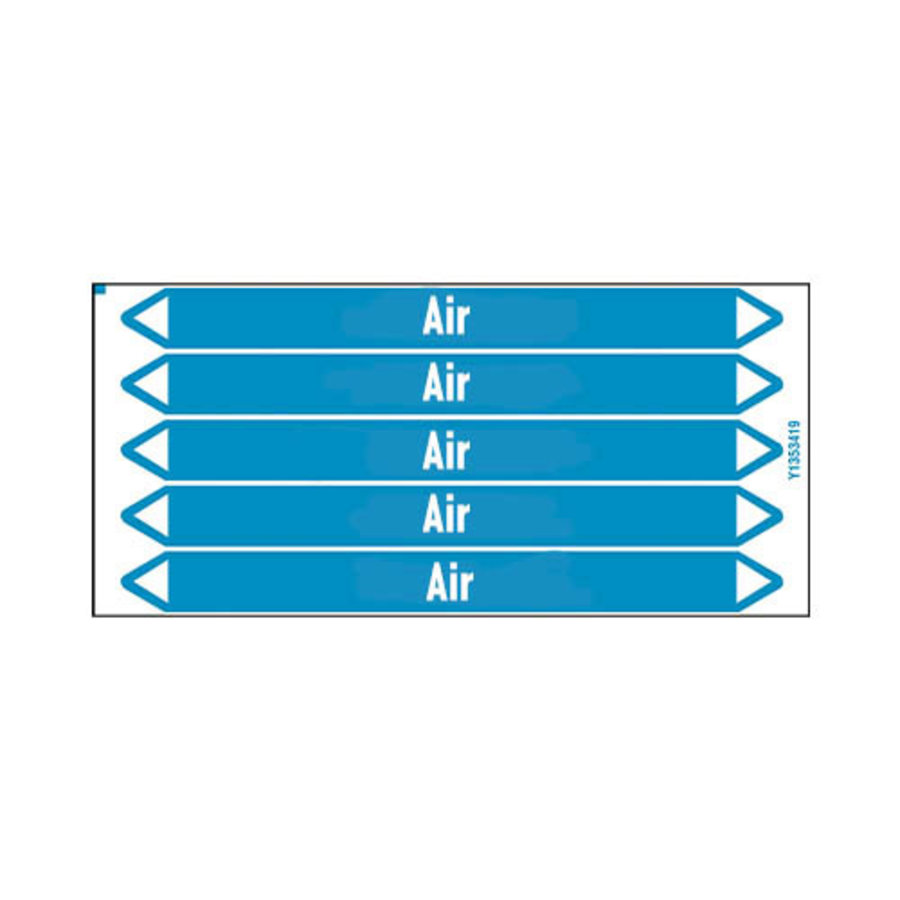 Pipe markers: Compressed air | English | Air