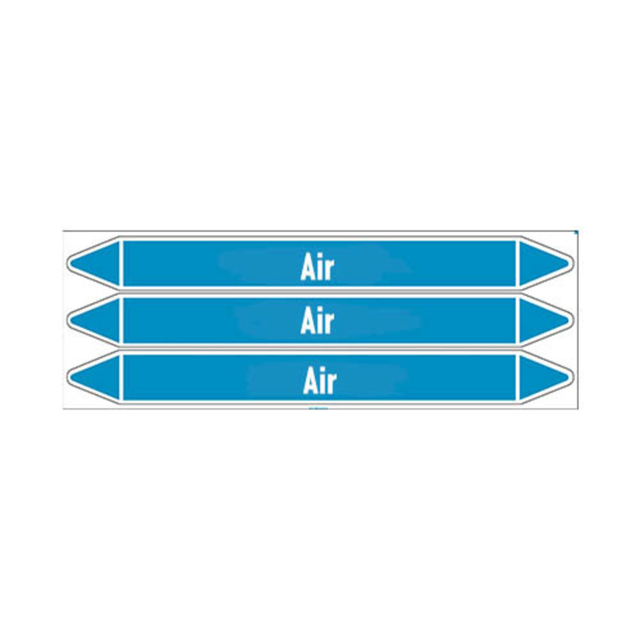 Pipe markers: Compressed air 1.5 bar | English | Air