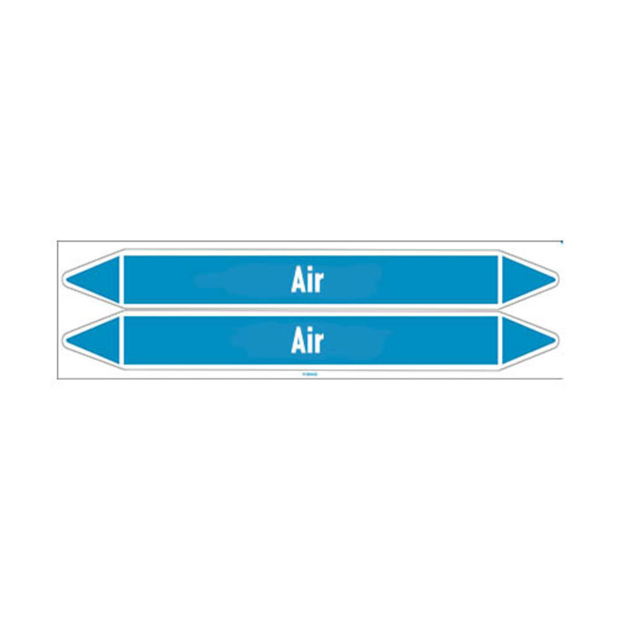 Pipe markers: Compressed air 6 bar | English | Air