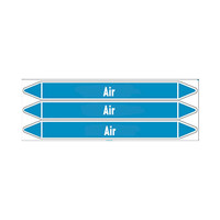 Pipe markers: Dry air   English   Air
