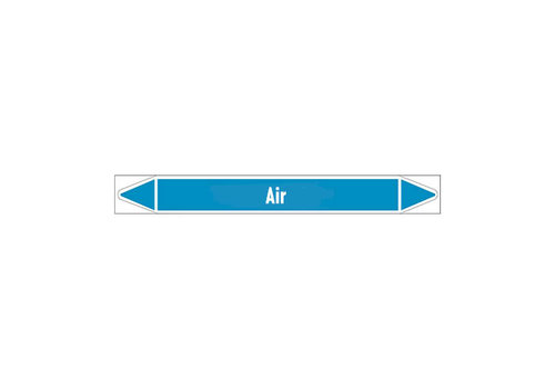 Pipe markers: Exhaust compressed air | English | Air
