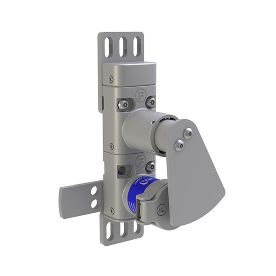 Mechanical lock-in prevention unit for hinged doors.