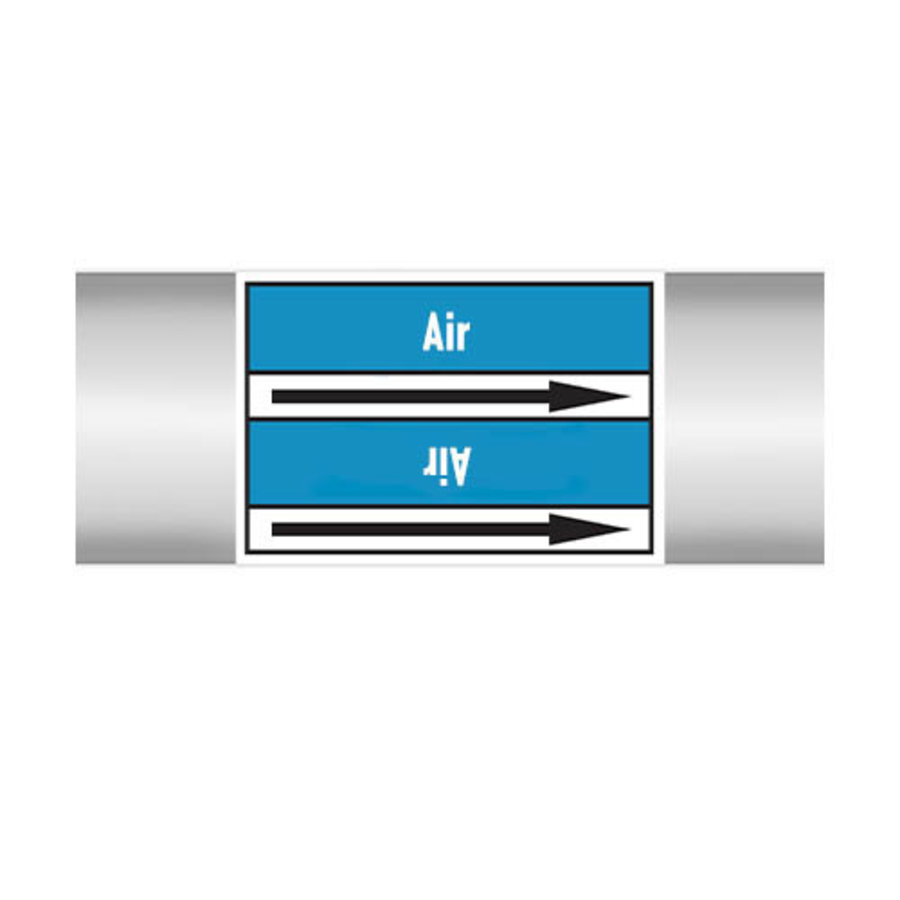 Pipe markers: Sterile air | English | Air