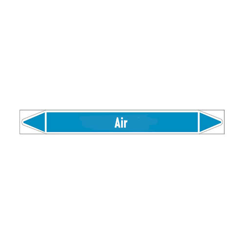 Pipe markers: Treated air | English | Air