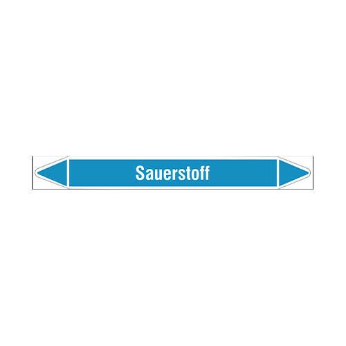 Pipe markers: Sauerstoff | German | Sauerstoff