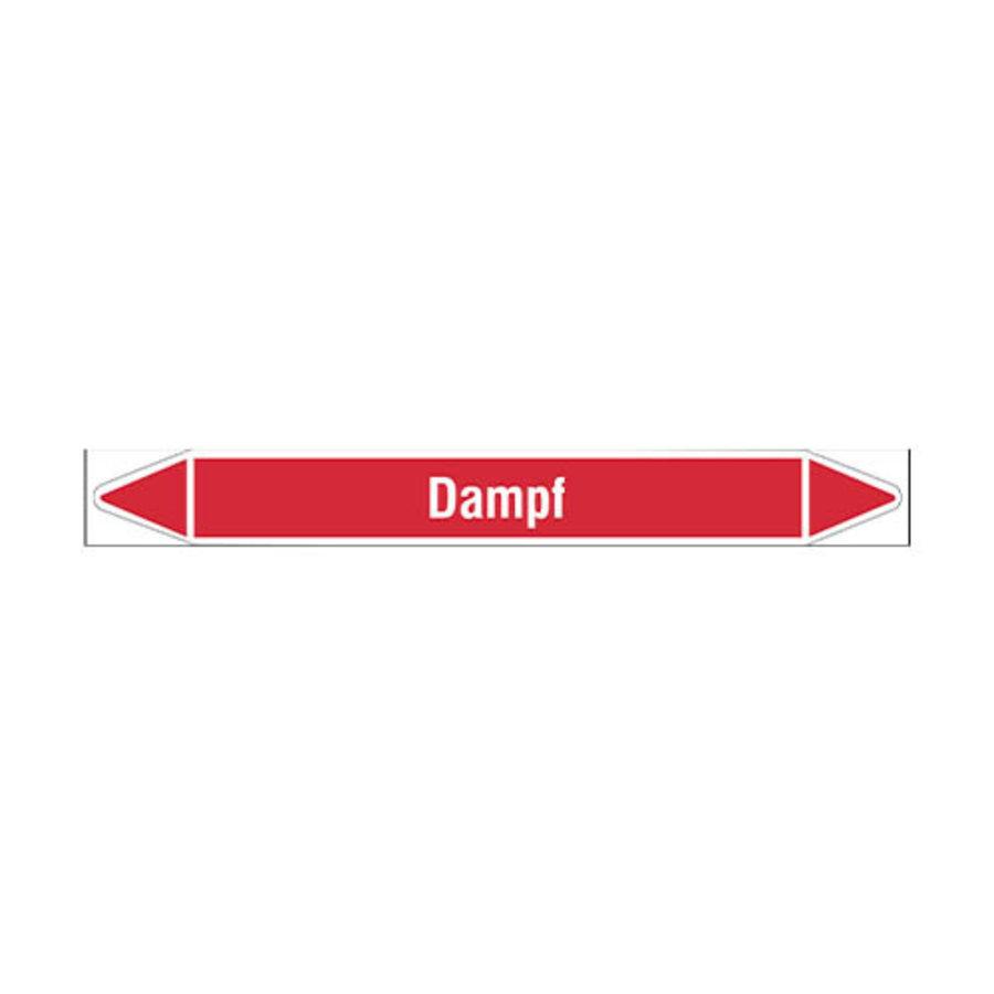 Pipe markers: Brüdendampf | German | Steam