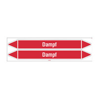 Pipe markers: Dampf 1,5 bar | German | Steam