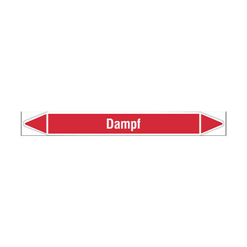 Pipe markers: Dampf 2,8 bar | German | Steam