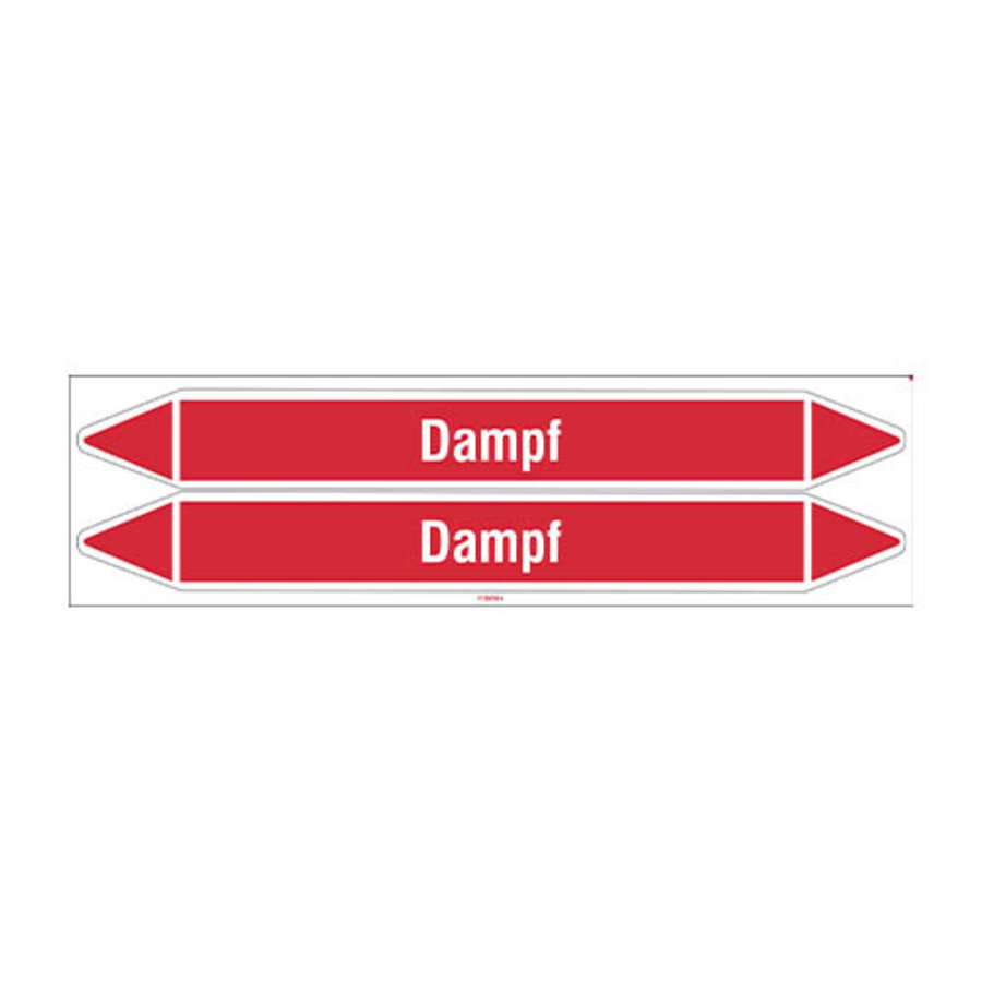 Pipe markers: Dampf 3 bar | German | Steam