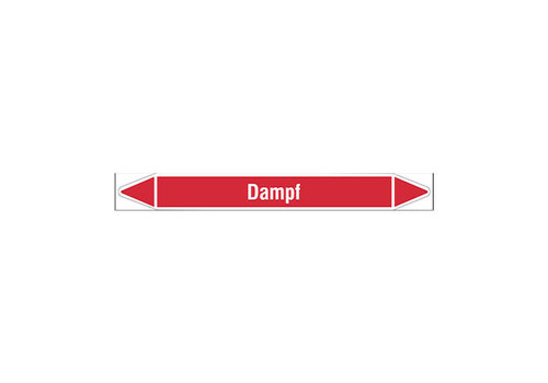 Pipe markers: Dampf 4 bar | German | Steam