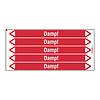 Brady Pipe markers: Dampf 8 bar | German | Steam