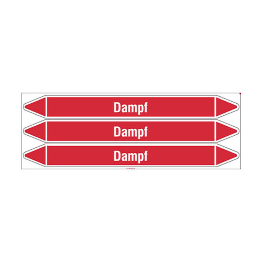 Pipe markers: Dampf 8 bar | German | Steam