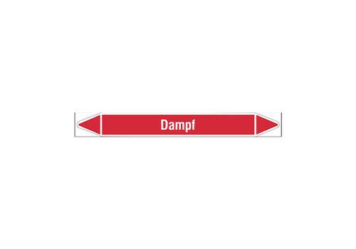 Pipe markers: Heizwärme  | German | Steam