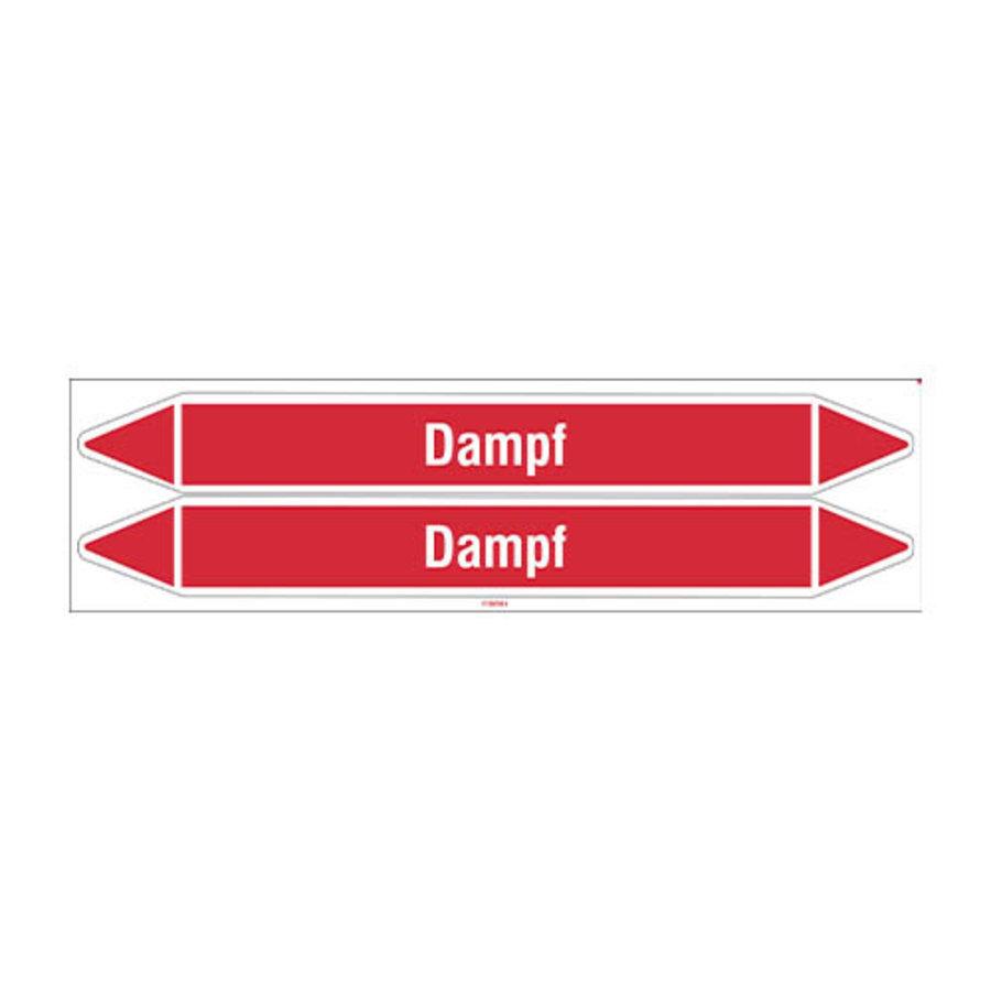 Pipe markers: Sattdampf | German | Steam