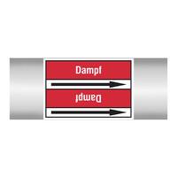 Pipe markers: Sperrdampf | German | Steam