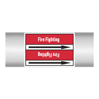 Pipe markers: Carbon foam   English   Fire Fighting