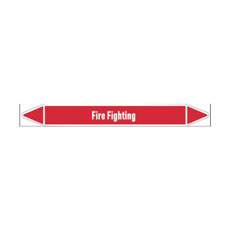 Pipe markers: Carbon foam | English | Fire Fighting