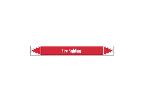 Pipe markers: Fire protection water | English | Fire Fighting