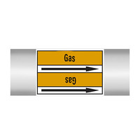 Pipe markers: Argon | English | Gas