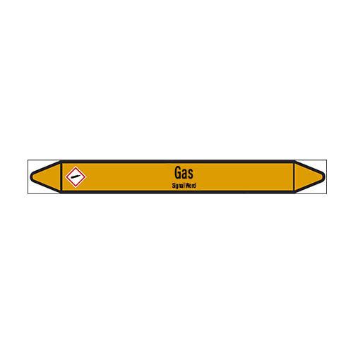 Pipe markers: Butane | English | Gas