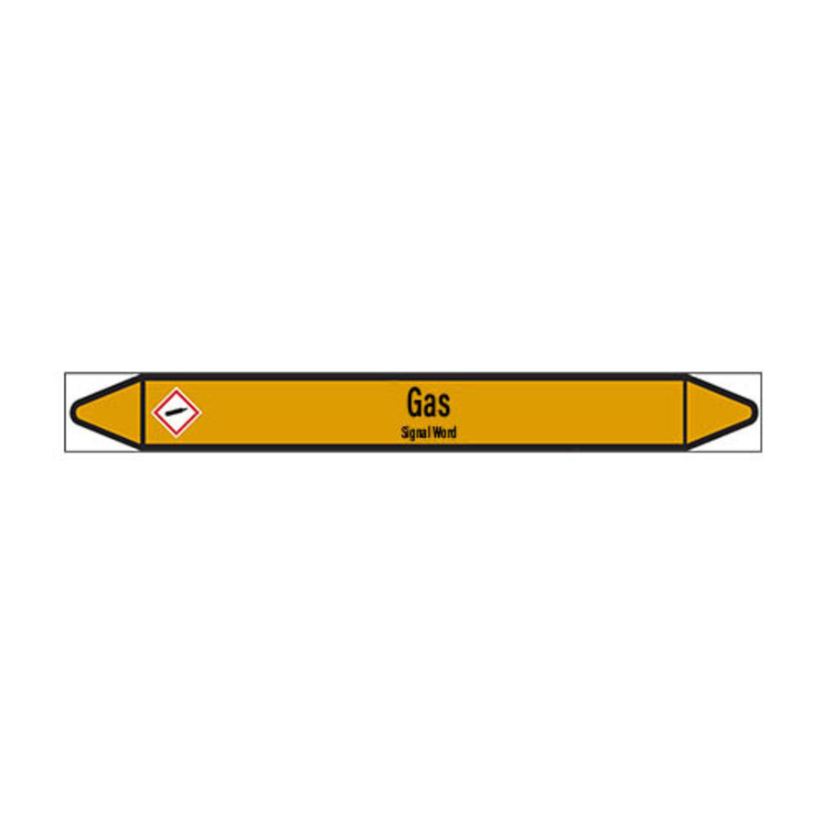 Pipe markers: H2S | English | Gas