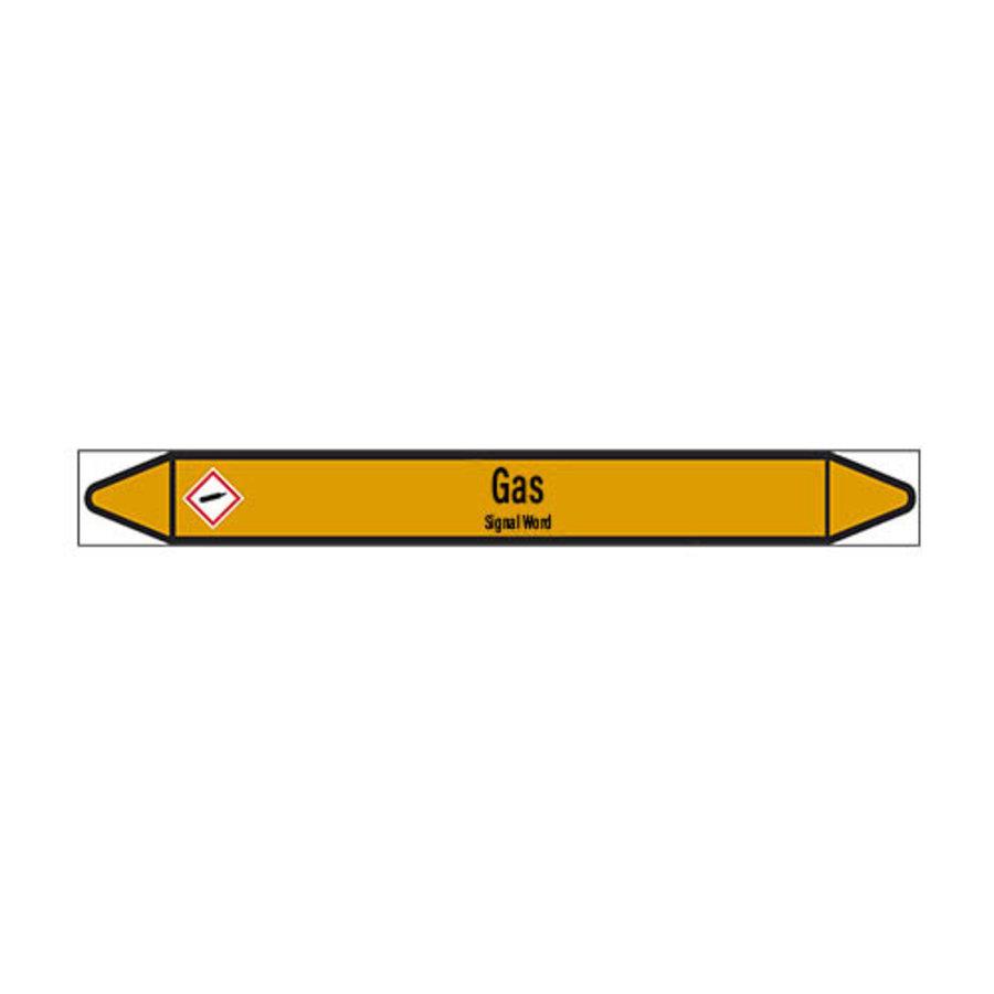 Pipe markers: Methanol | English | Gas