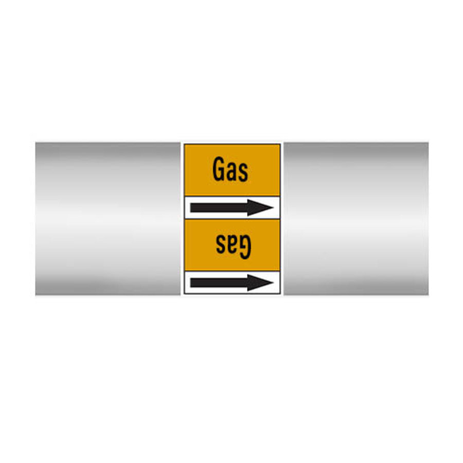 Pipe markers: Natural gas LP   English   Gas
