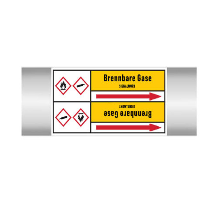 Pipe markers: Bromethan   German   Flammable gas