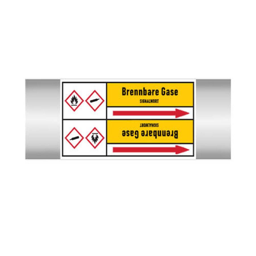 Pipe markers: Bromethen | German | Flammable gas