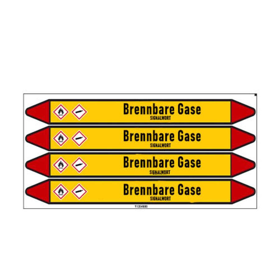 Pipe markers: Butadien   German   Flammable gas