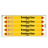 Brady Pipe markers: Fluor   German   Flammable gas